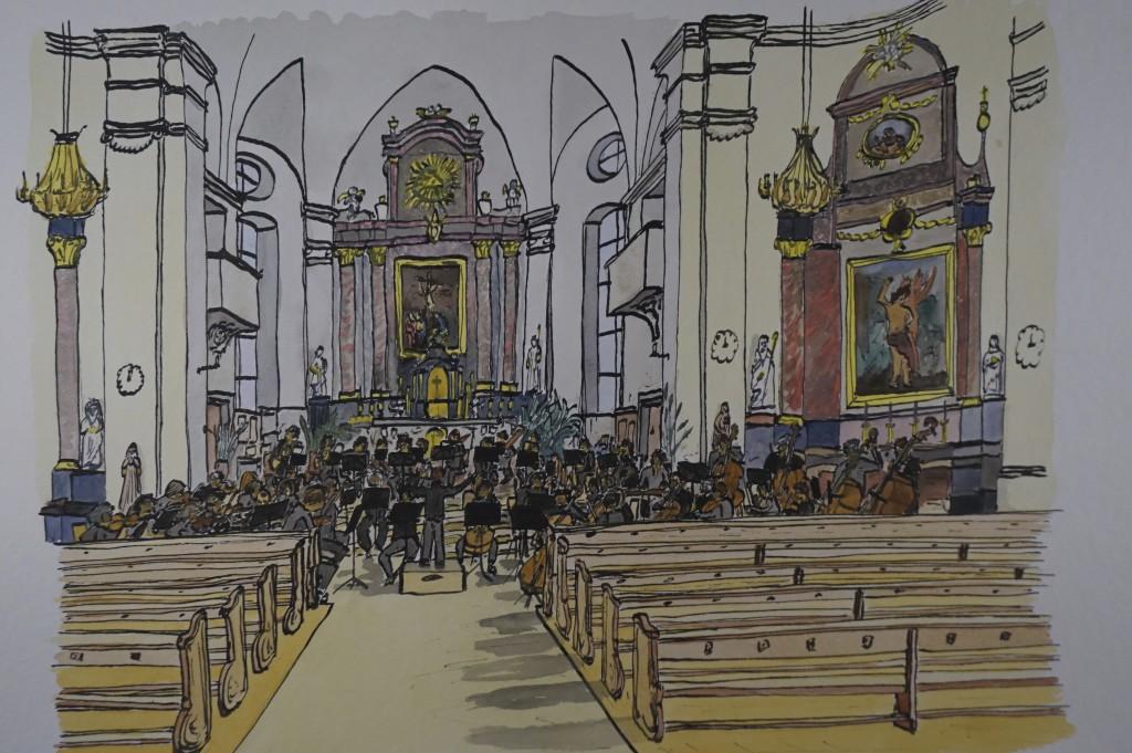 Kammerorchester 65 (Aquarell von Olivier Keller, 2015)
