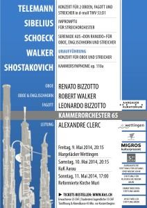 Werke für Oboe und Klarinette