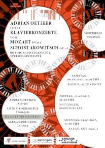 Adrian Oetiker spielt Klavierkonzerte von Mozart und Schostakowitsch