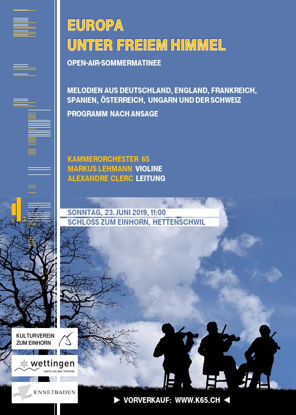 KAMMERORCHESTER K65 Das Orchester für musikbegeisterte Amateure in Baden-Wettingen (Aargau/Schweiz) und Umgebung